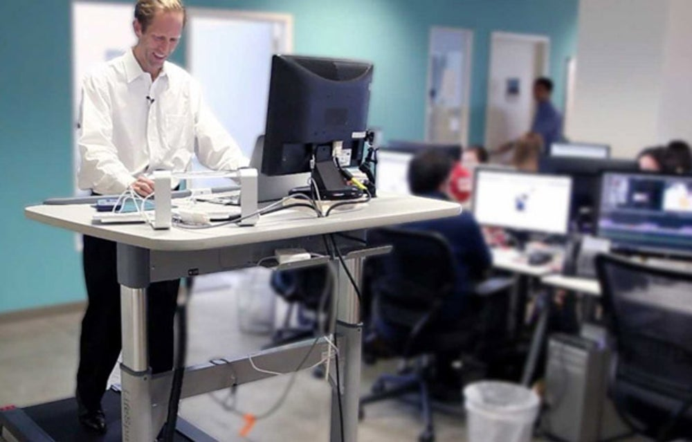 Using a treadmill desk increases your chances of physically hurting yourself.
