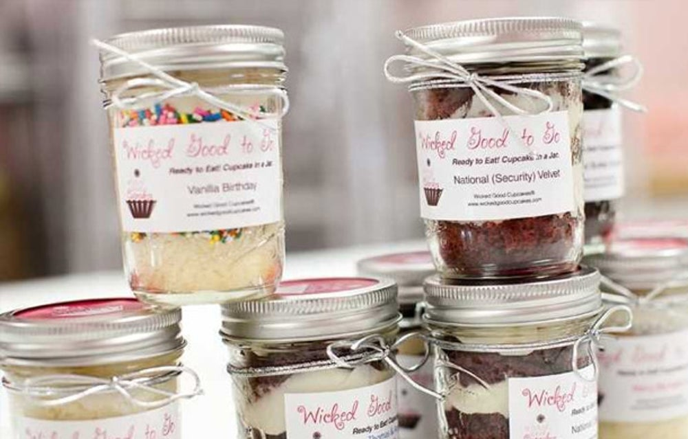 Sweets addicts would appreciate a jar from Wicked Good Cupcakes.