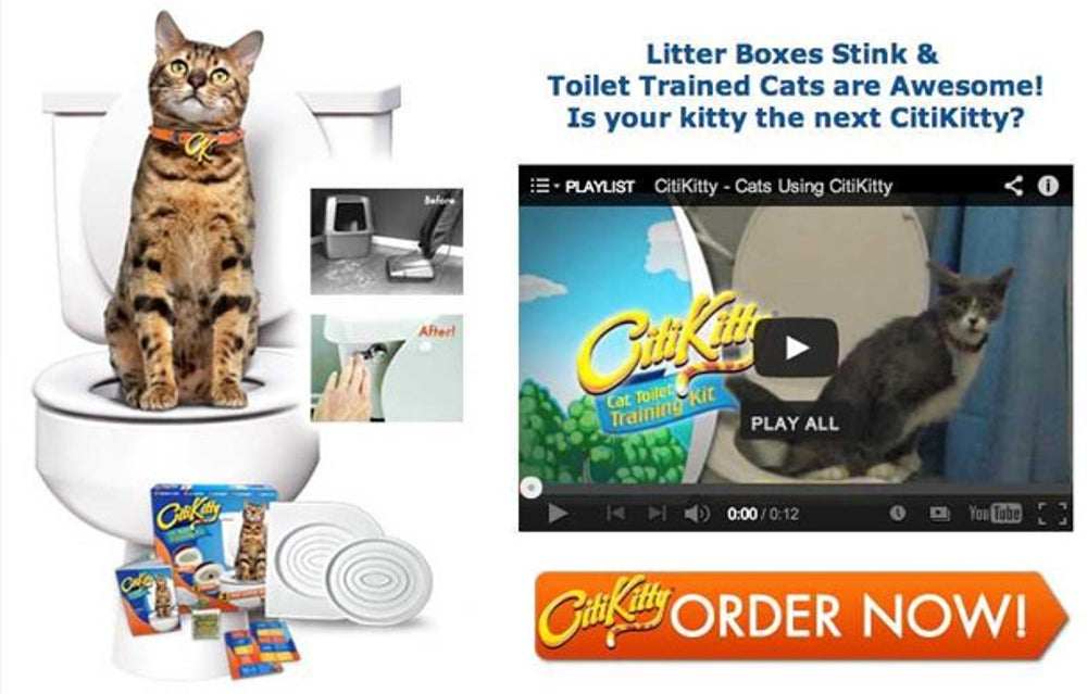 CitiKitty helps potty train your cat to use the toilet. Seriously.