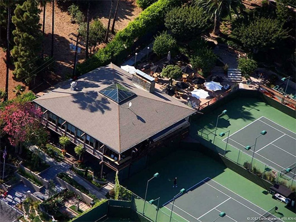 He bought the Malibu Racquet Club for $6.9 million in 2007. The facilities have been vastly improved since the purchase, and tennis pros Victoria Azarenka and Serena Williams have been spotted here.