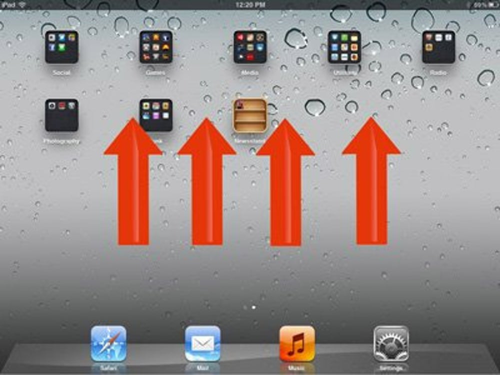 A faster way to reveal the multitasking bar