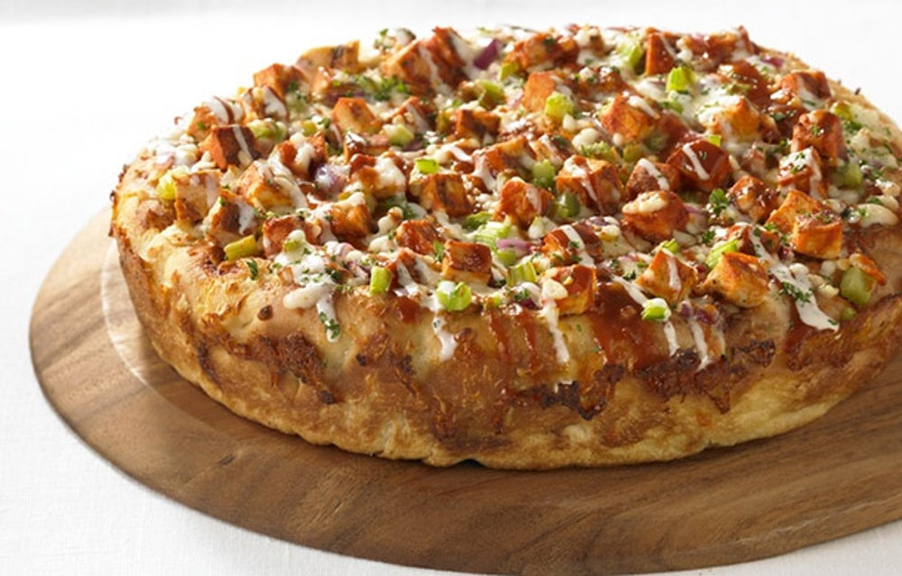 The Deep Dish Chicken Bacon Ranch Pizza at BJ's Restaurant and Brewhouse