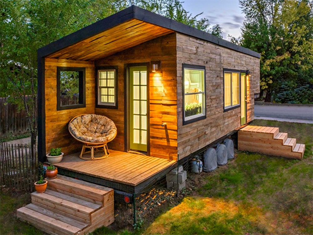 This 196 square-foot home cost its architect less than $12,000 to build.