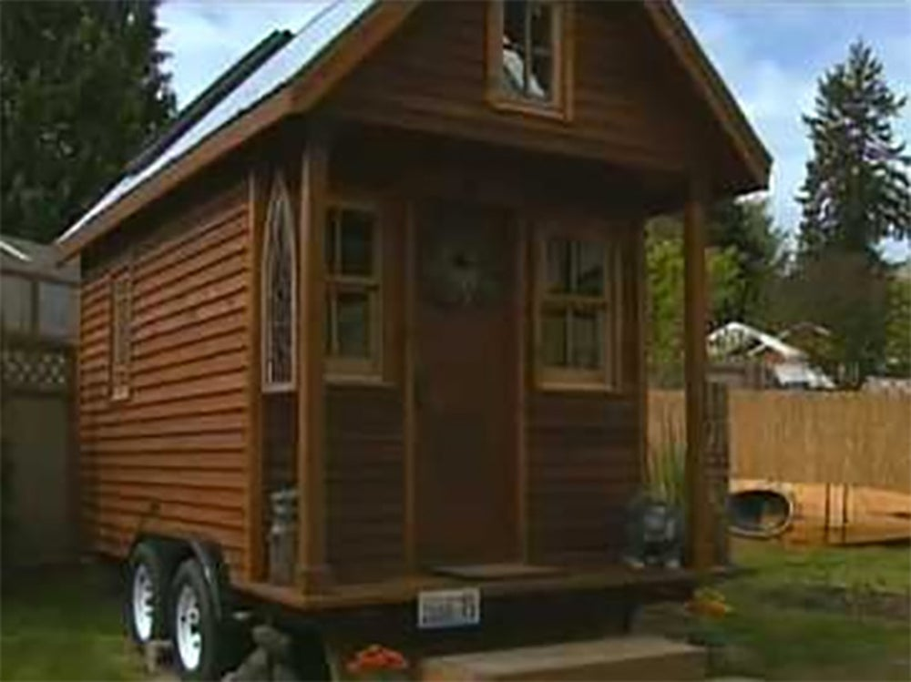 This 84 square-foot home cost just $10,000 to build, and even less to maintain.