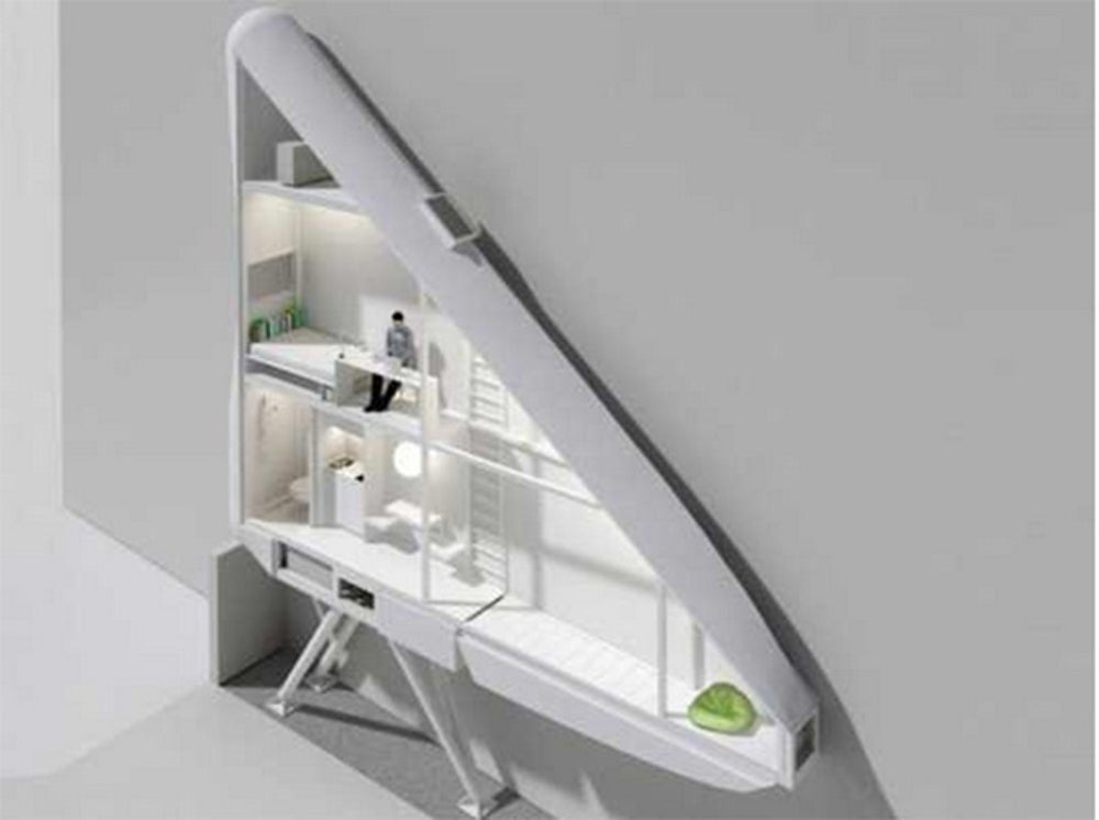 This five foot-wide home in Poland is possibly the skinniest apartment in the world.
