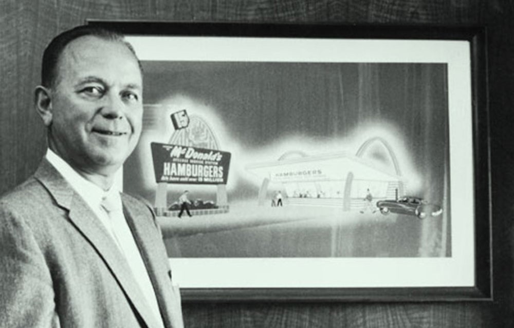 Ray Kroc spent his career as a milkshake device salesman before buying McDonald's at age 52 in 1954. He grew it into the world's biggest fast-food franchise.