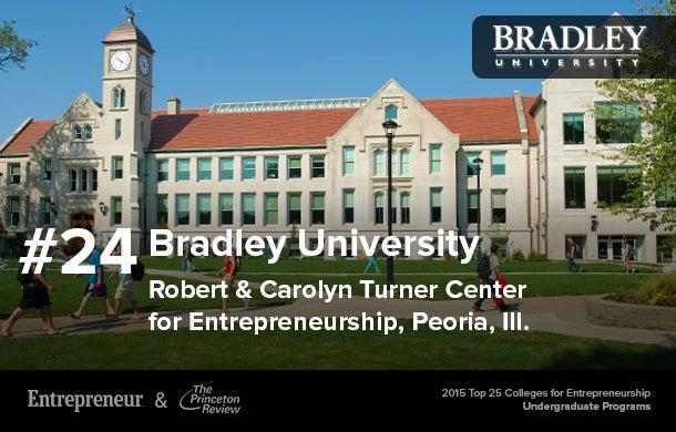 2015 Top 25 Colleges In Entrepreneurship For Undergraduates
