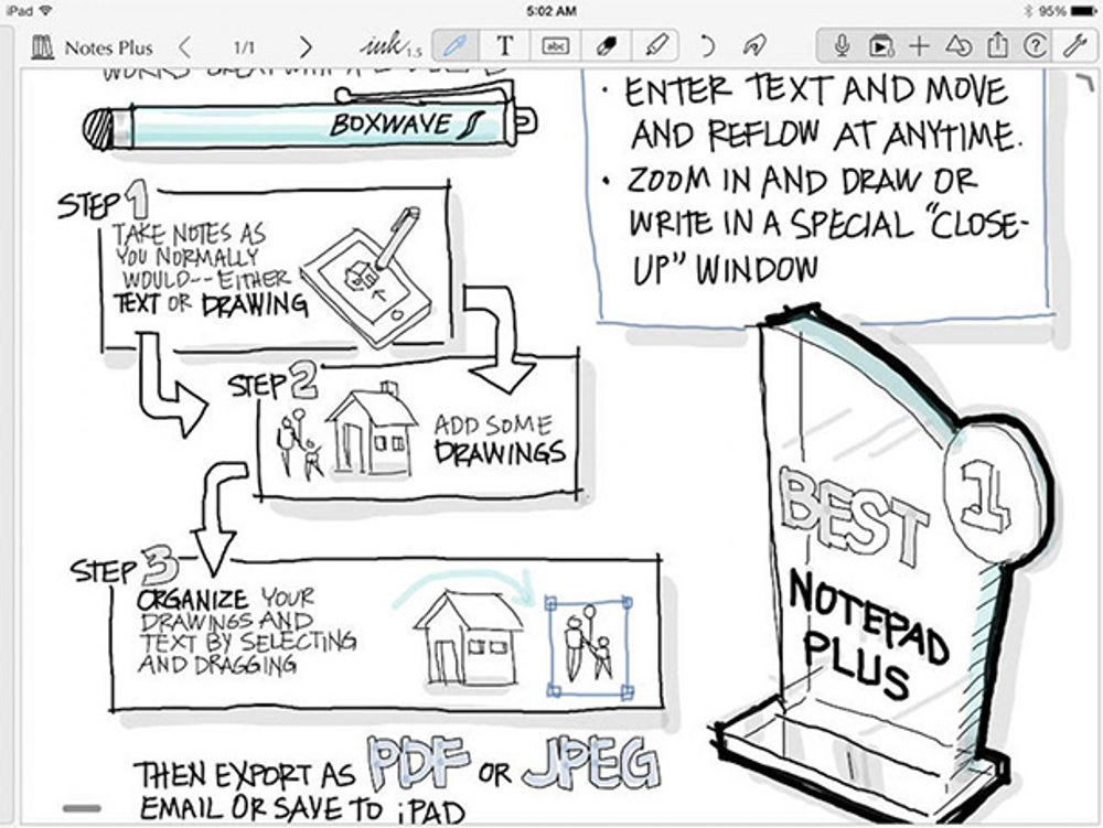 NotesPlus is note-taking app with an emphasis on natural gestures.