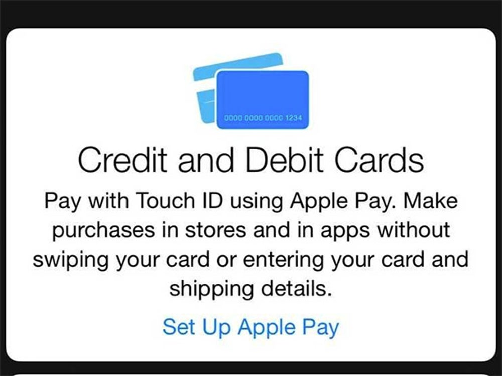 """Now you have to input your card's information. Tap """"Set Up Apple Pay."""""""