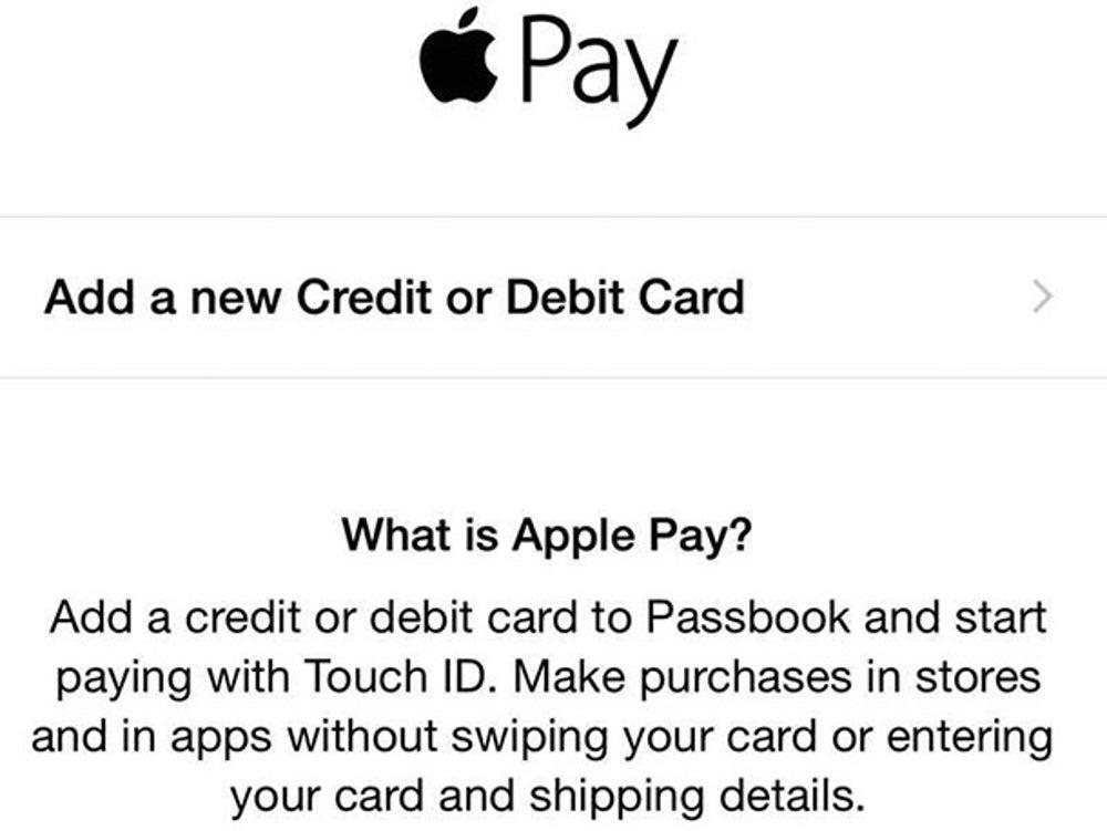 "Tap ""Add a new Credit or Debit Card."""