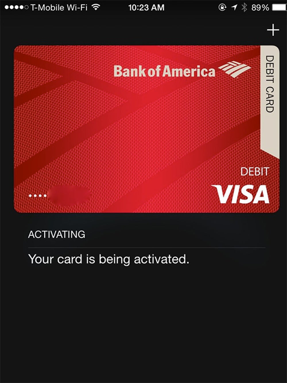 It takes about a minute for your card to activate. Once it does, you're ready to buy stuff.