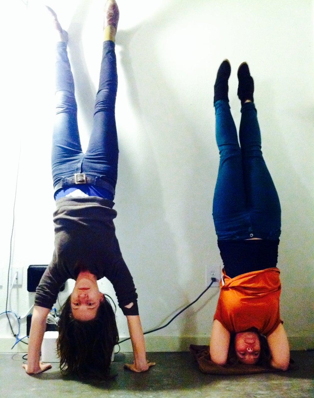 Do handstands when you're stuck.