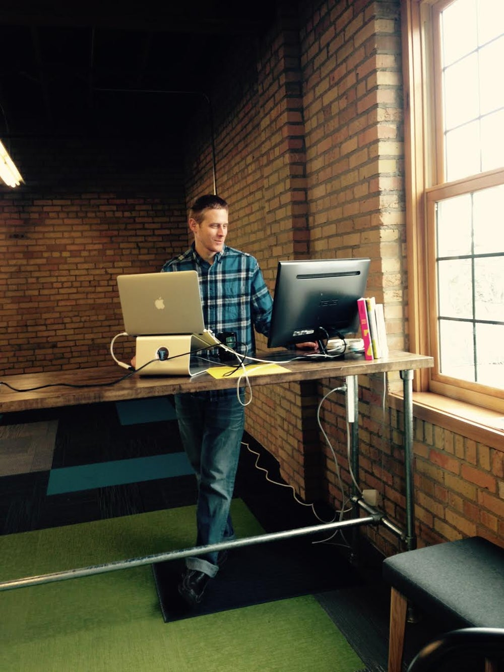 Use a standing desk.