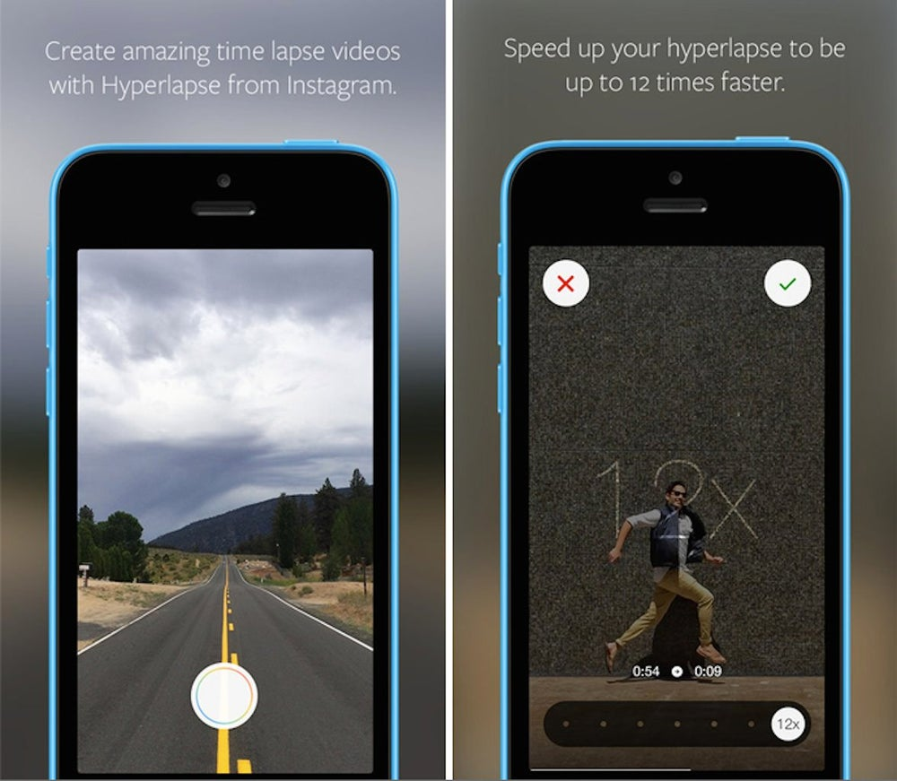 Hyperlapse from Instagram transforms your shaky footage into a stunning time-lapse.