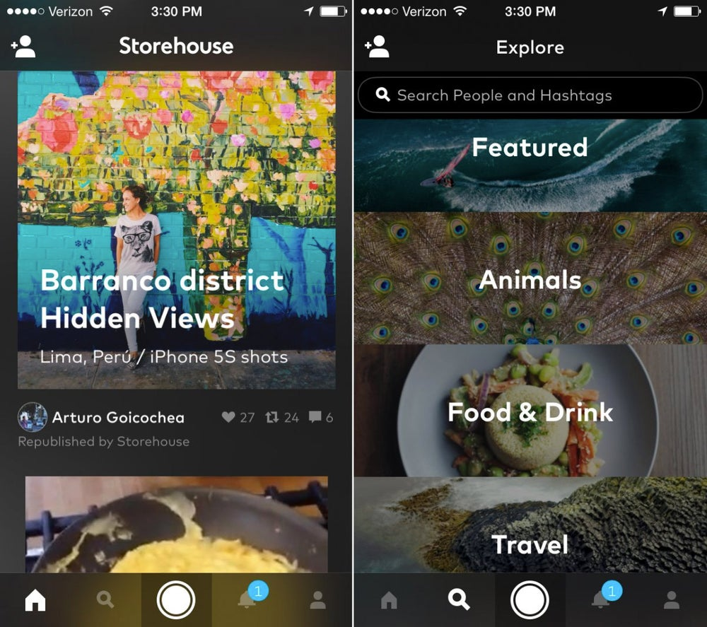 Storehouse turns your photos into vivid visual narratives.