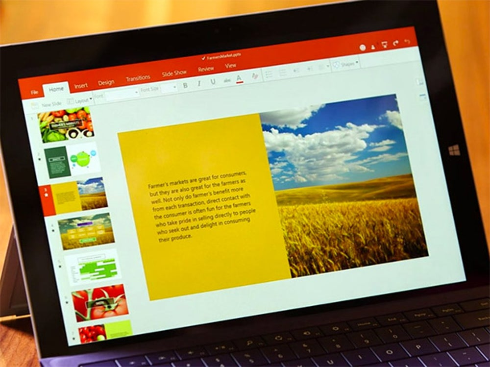 A touch version of Microsoft Office for Windows.