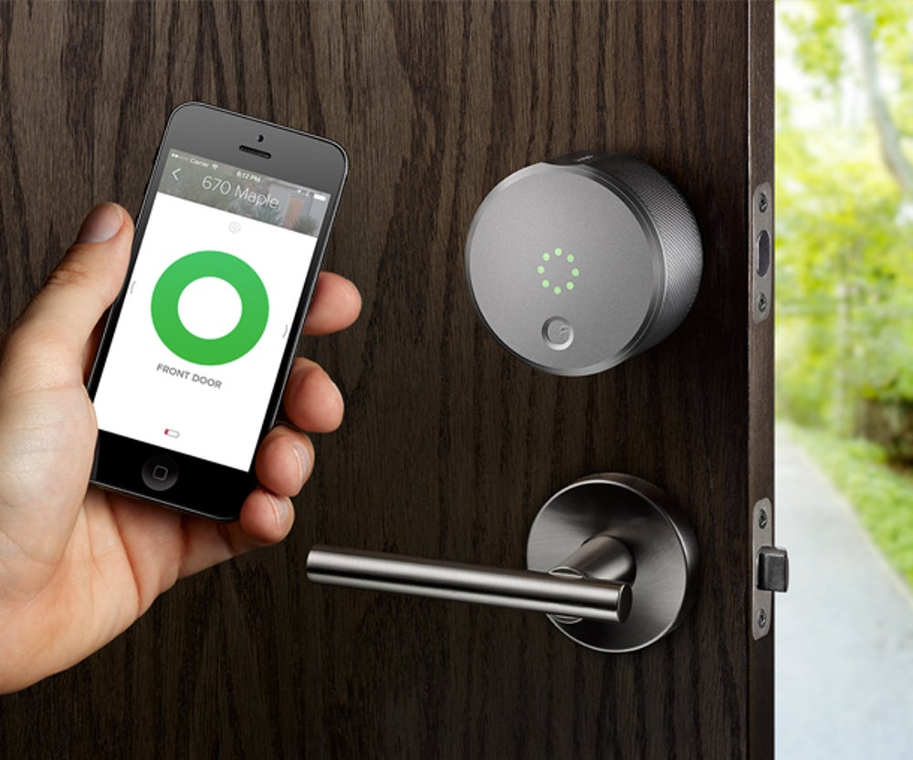 2. Give your door an upgrade with the August Smart Lock