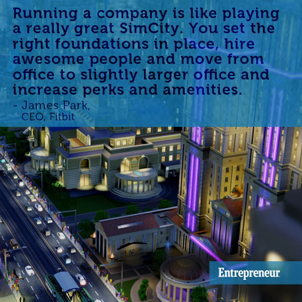 Running a company is like playing a video game.