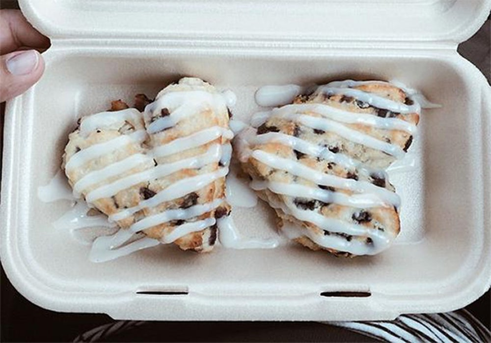 Get romantic with Bojangles' Bo-Berry Biscuits.