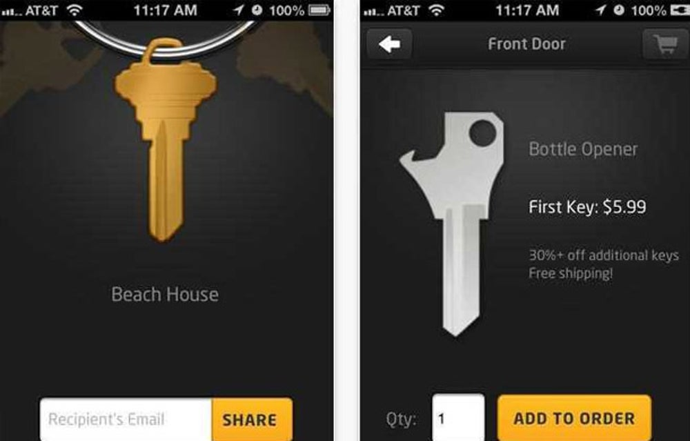 KeyMe delivers spare keys anywhere over the cloud.