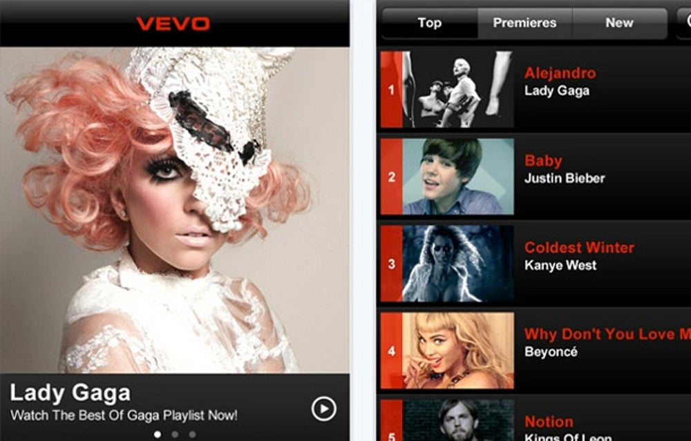 Bored of listening to music? Watch the slick music videos on VEVO instead.