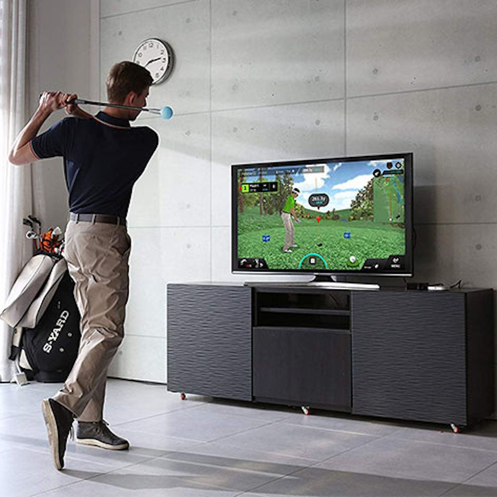 PhiGolf: Mobile & Home Smart Golf Simulator with Swing Stick
