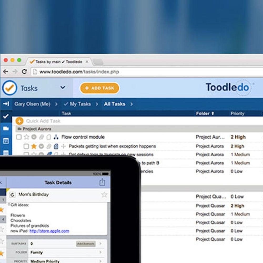 Toodledo Plus Online Task Manager