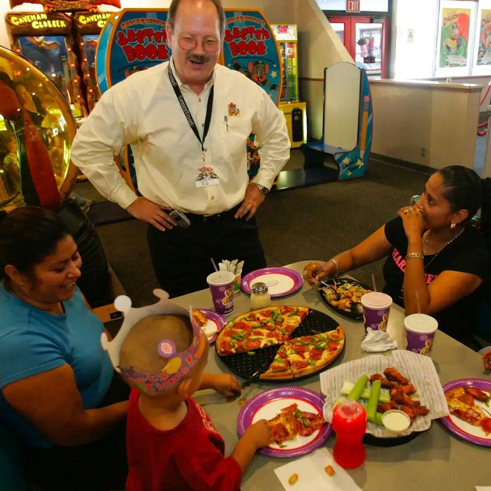 Chuck E. Cheese's continued to evolve and grow, reaching 300 locations in 2000.