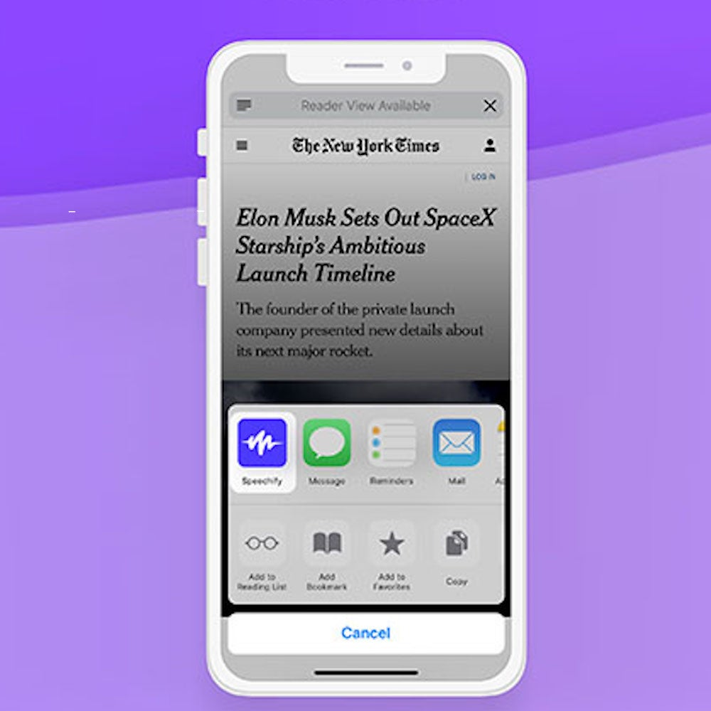 Speechify Audio Reader