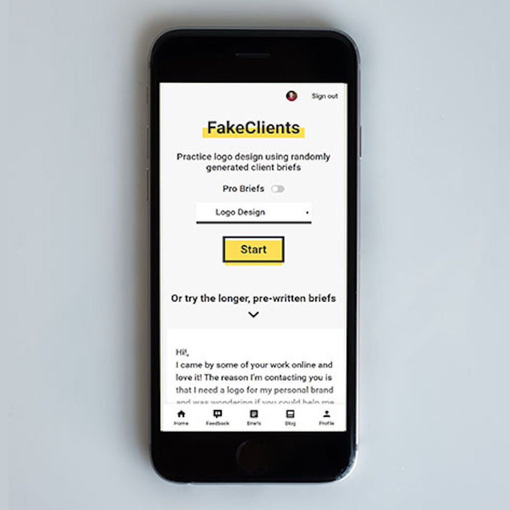 FakeClients Design Brief Generator