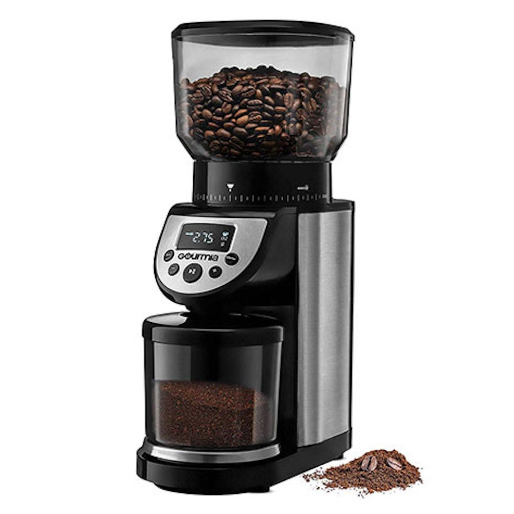 Gourmia® GCG205 14-Oz Automatic 4-Mode Digital Conical Burr Grinder