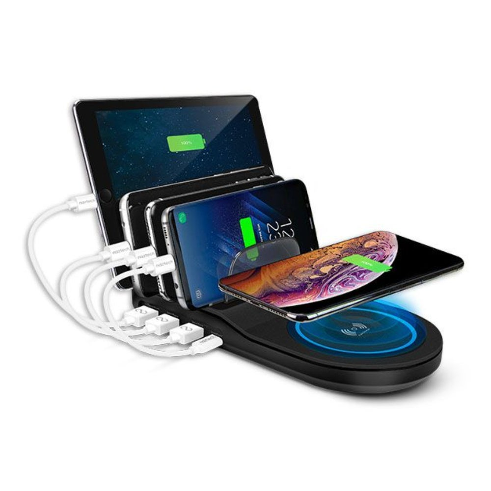 Naztech Wireless Power Hub 5: Qi-enabled + 4 USB ports