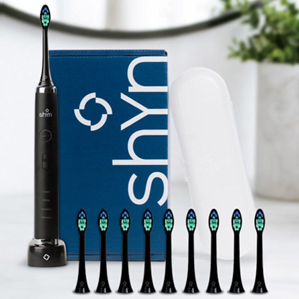 Shyn Sonic Toothbrush with 10 Anti-Plaque Brush Heads