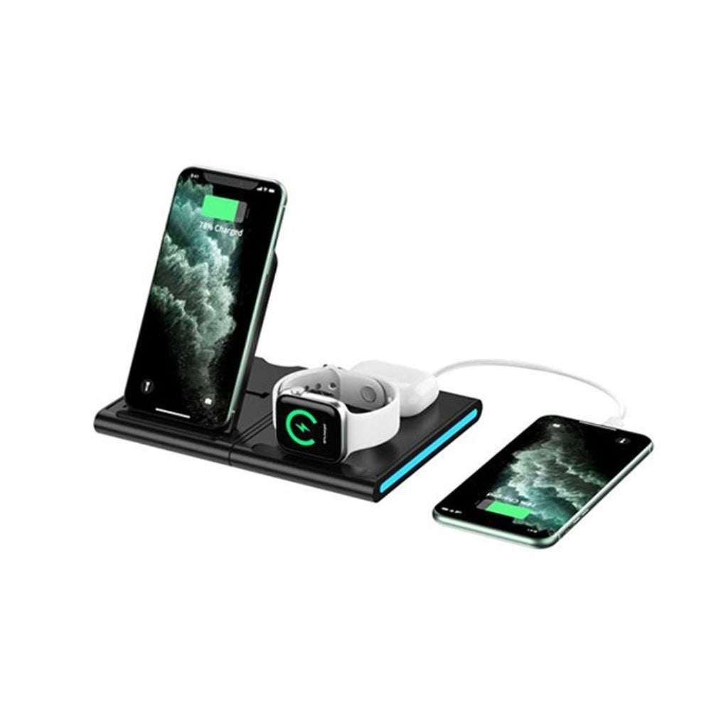 Magnetic Power Tiles: 4-in-1 Wireless Charging Station