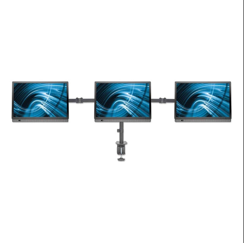 LCD Monitor Mount with Center Mount & Double-Link Swing Arms