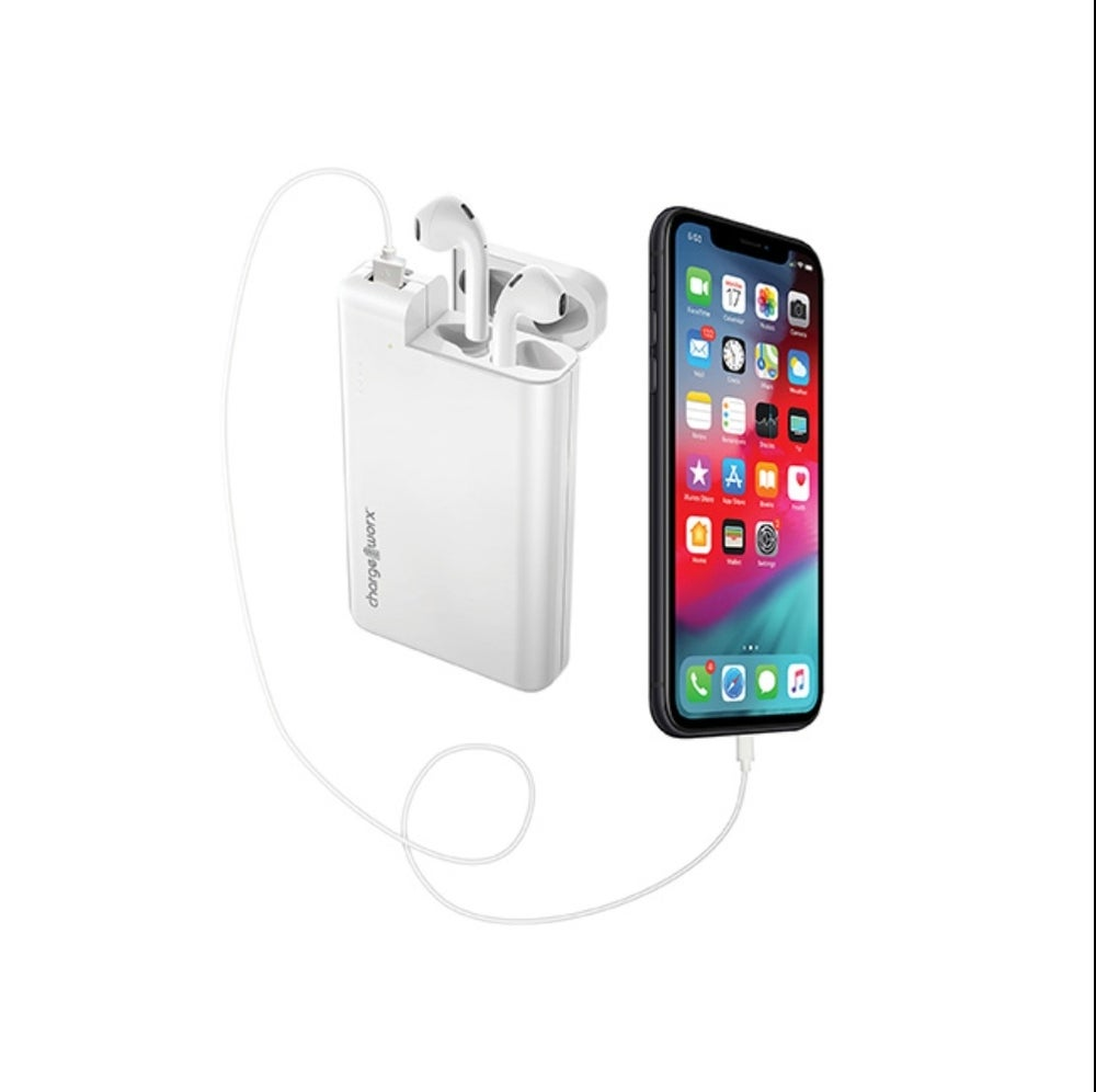 Chargeworx 10,000mAh Power Bank with AirPods Holder