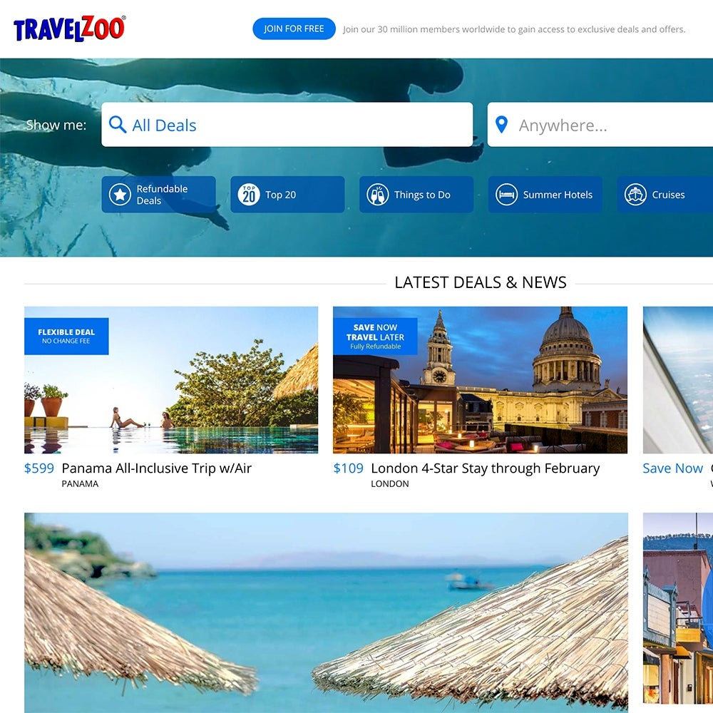 Best for Cruises: Travelzoo