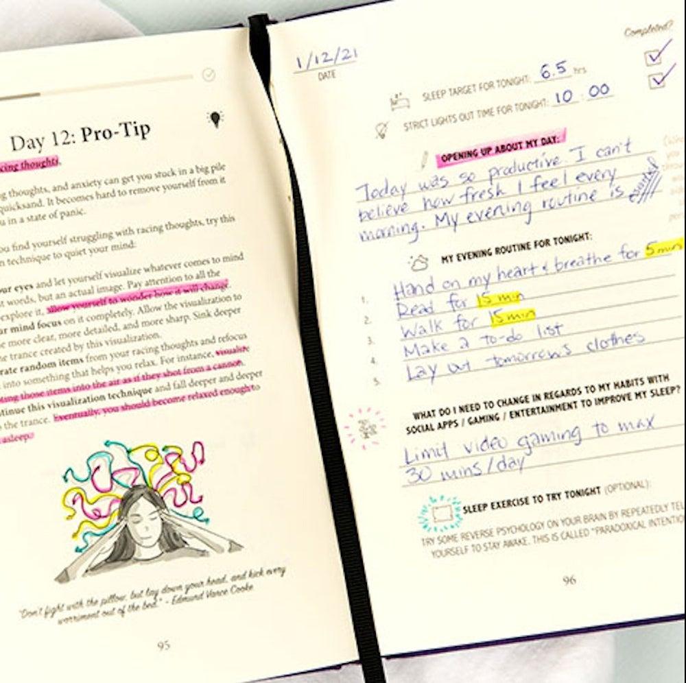 Sleep & Evening Routine Sidekick Journal