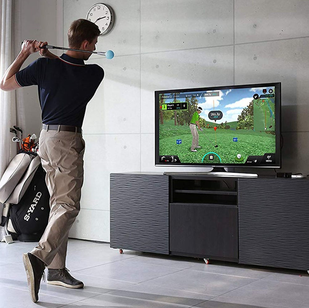 PhiGolf: Mobile & Home Smart Golf Simulator with Swing Stick