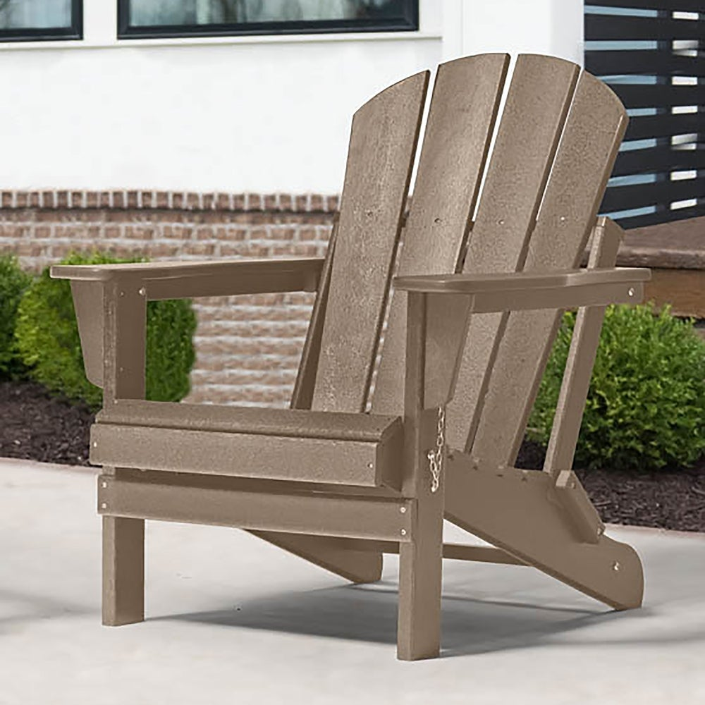 Best Adirondack Chair for Fire Pits: Braxton Folding Plastic Adirondack Chair ($187)