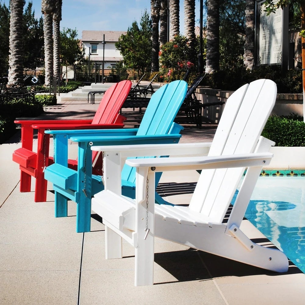 Best Resin Adirondack Chair: Laguna Outdoor Poly Folding Patio Adirondack Chair ($175)