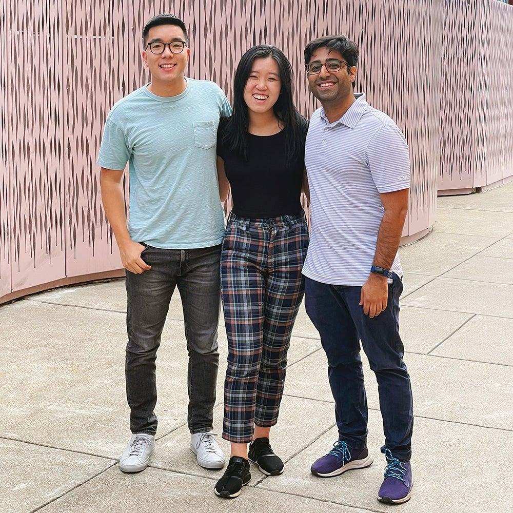 Brandon Wang, 24, Athena Kan, 23, and Shiroy Aspandiar, 33 Cofounders, Dreambound