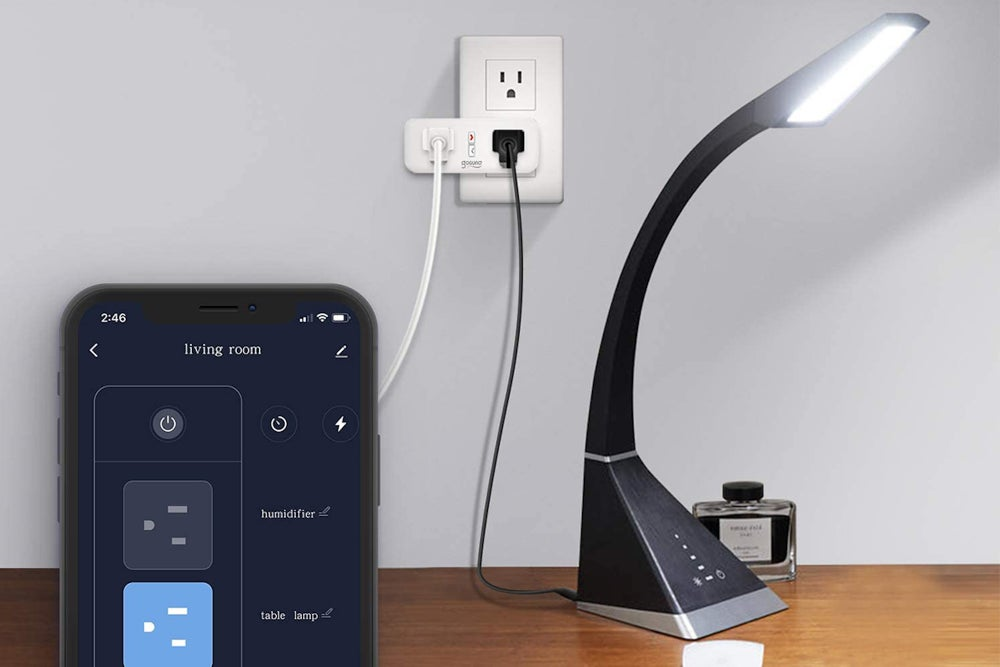 Smart Dual Plug Outlet with Alexa & Google Home Capability