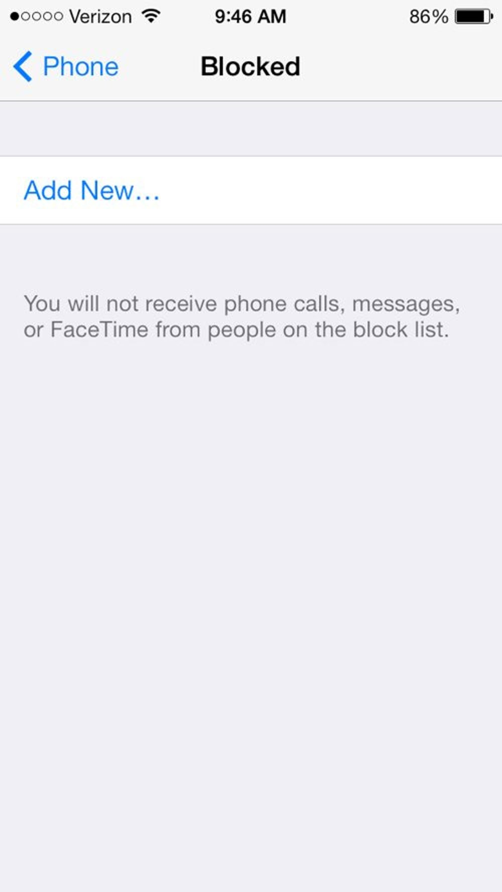 You can block certain phone numbers from calling or texting you. Go to Settings > Phone > Blocked to add numbers or people already in your contacts to your blocked list.