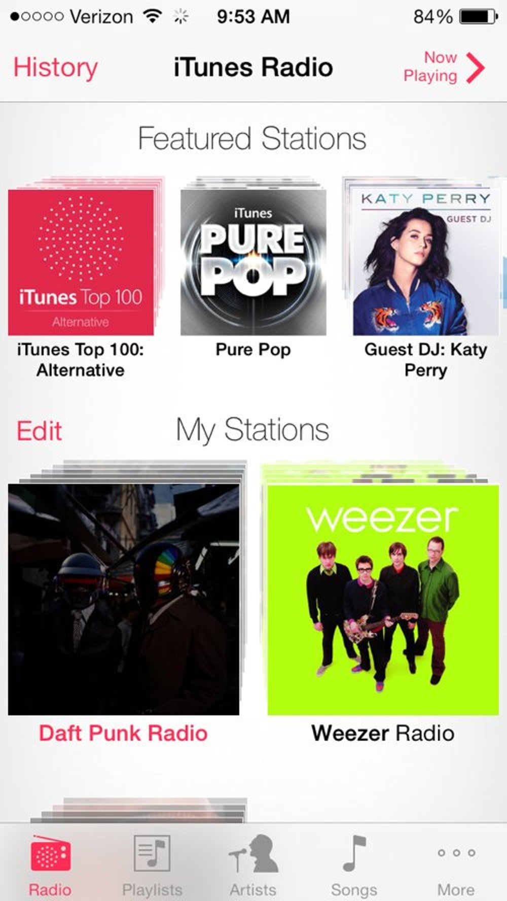 The Music app has a free Pandora-like streaming music service. Type in an artist, song, or genre and iTunes will create a customized radio station for you. It's free, but you'll have to listen to some commercials.