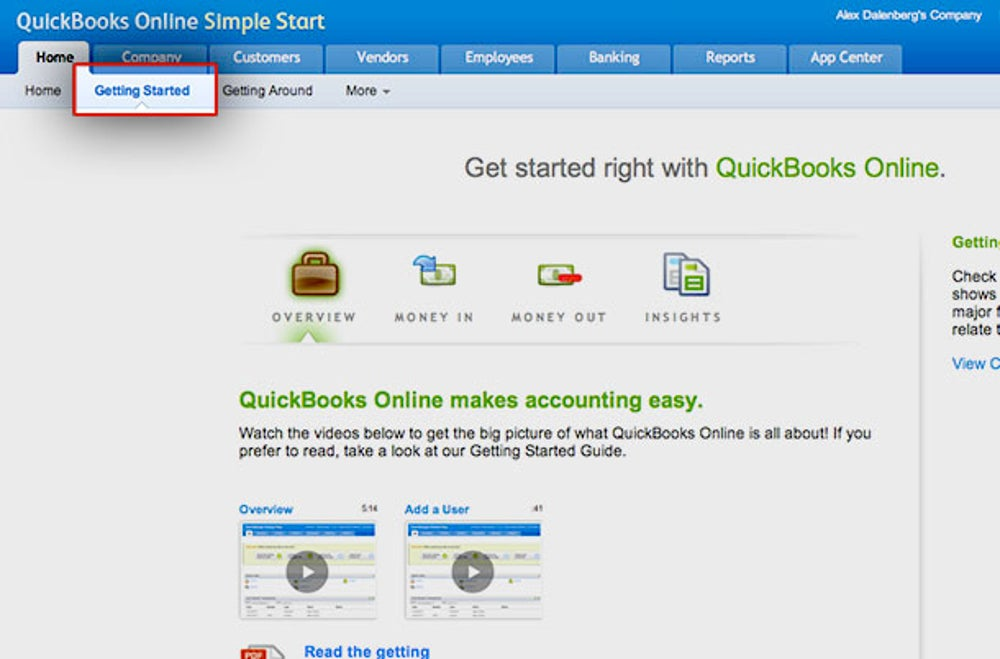 Review the QuickBooks basics.
