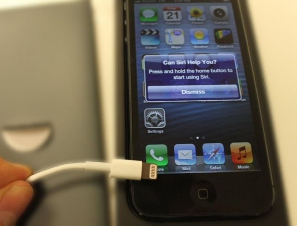 Apple's iPhones need to be plugged in to charge.