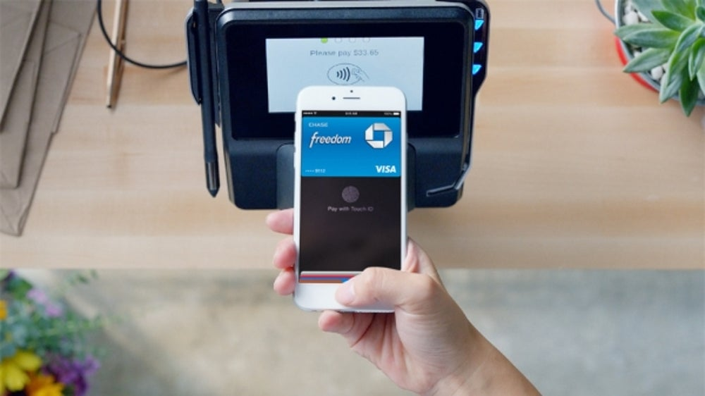 Apple Pay, which is compatible with the iPhone 6 and 6 Plus, works only at terminals with near-field communication enabled.