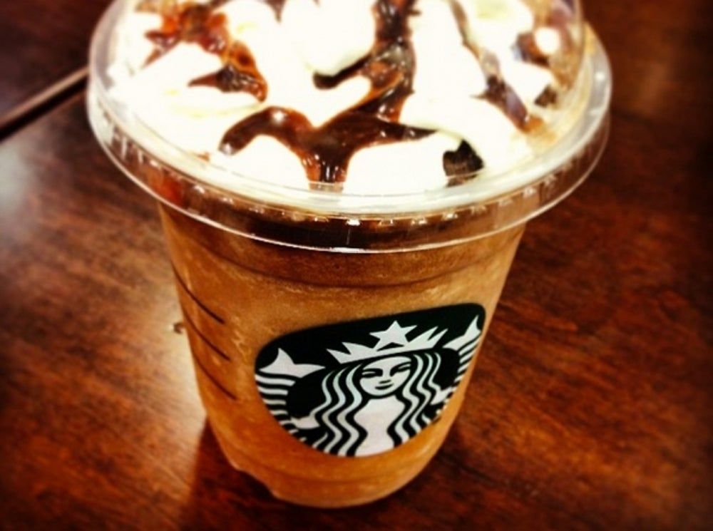 10. Fresh Banana & Chocolate Cream Frappuccino in Japan