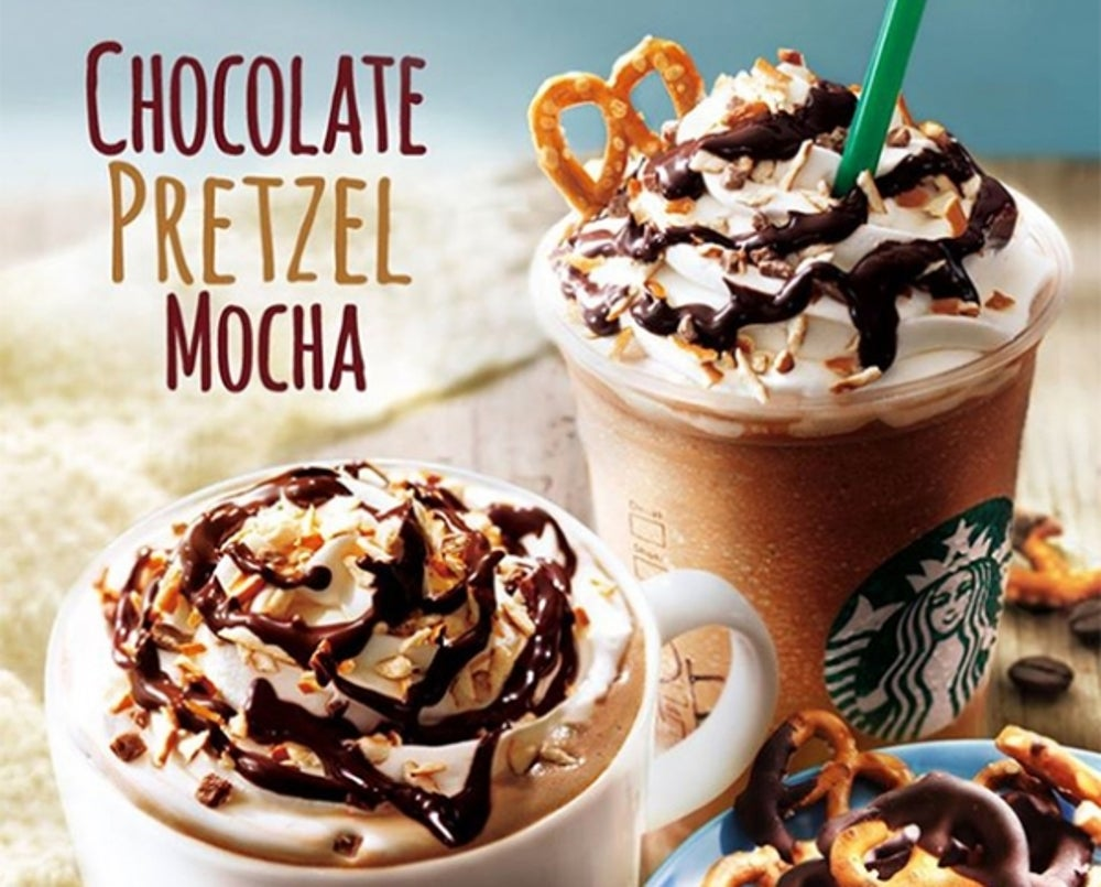 9. Chocolate Pretzel Frappuccinos in Japan